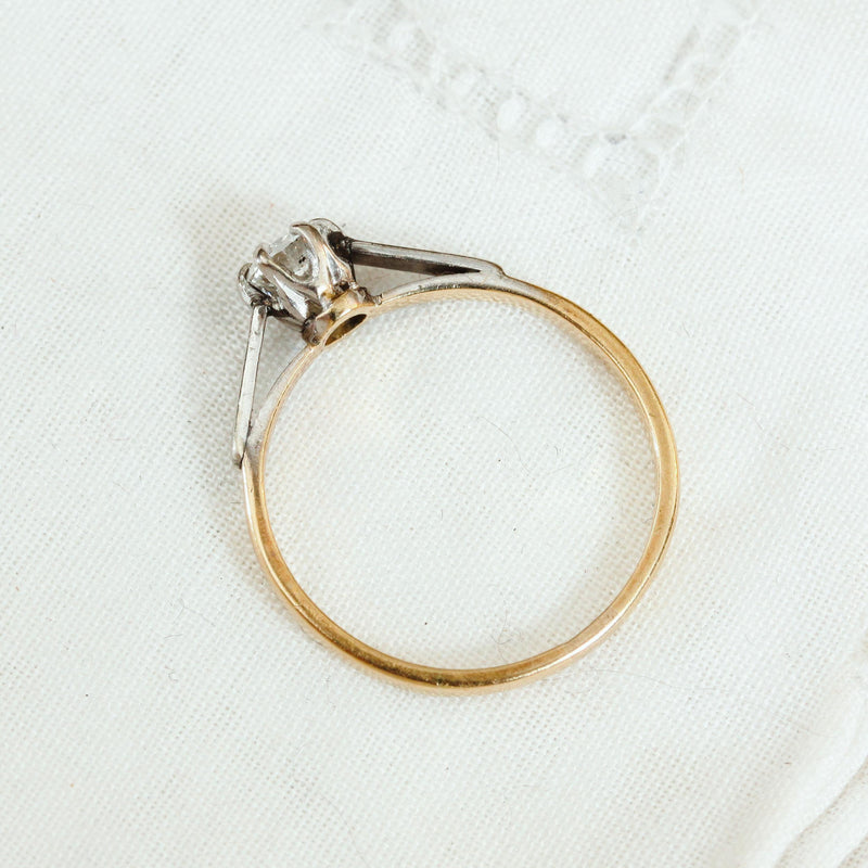 Mid Century Diamond Solitaire Engagement Ring