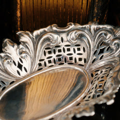 A Delightful Antique Date 1897 Silver Pin Tray