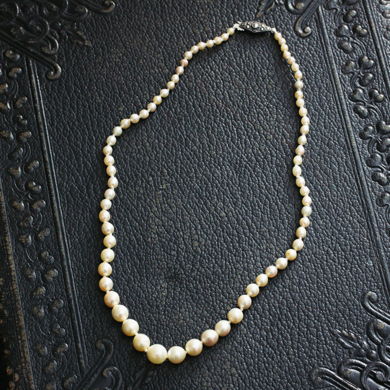 Vintage 1940's Cultured Pearl Necklace
