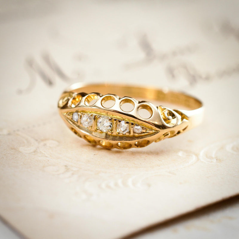 Antique Date 1913 Diamond Ring