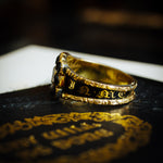 Well Beloved Georgian Date 1827 Enamelled Mourning Ring