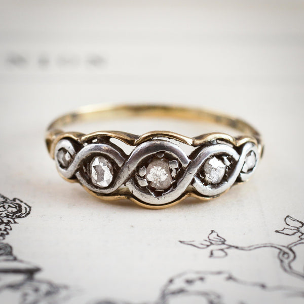 A Mysteriously Lovely Continental Rose Cut Diamond Ring