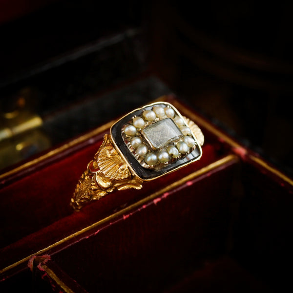 In Lament; Georgian Antique Mourning Ring