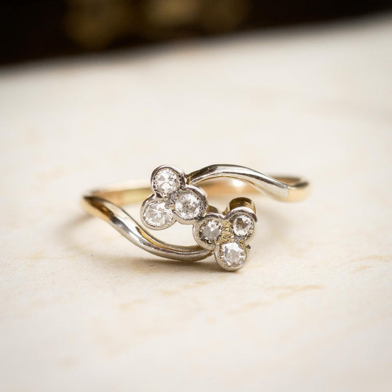 Dinky Darling Twin Sparkles Crossover Ring