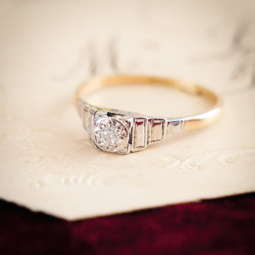 Fine Little Vintage Art Deco Diamond Ring