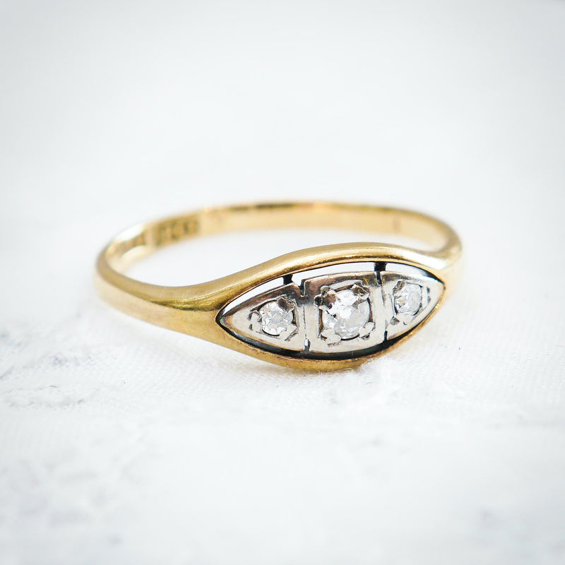 Sweet Sympathy! Circa 1920's Diamond Ring