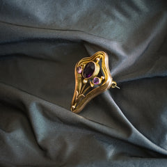 Art Nouveau Style Murrle Bennet & Co Amethyst Pin