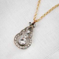 #07585-antique-paste-silver-pendantAn Enchanting Antique Edwardian Paste Pendant