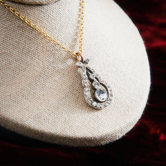 An Enchanting Antique Edwardian Paste Pendant
