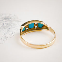 Very Best Antique Turquoise & Diamond Ring