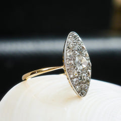 OTT Splendorous Edwardian Marquise Diamond Cluster Ring