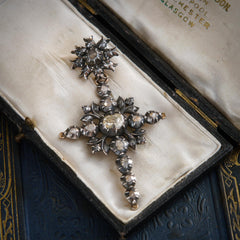 antique french diamond cross