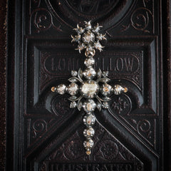 Antique 19th Century Belgian Diamond 'Flemish' Cross