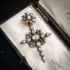 antique georgian diamond cross