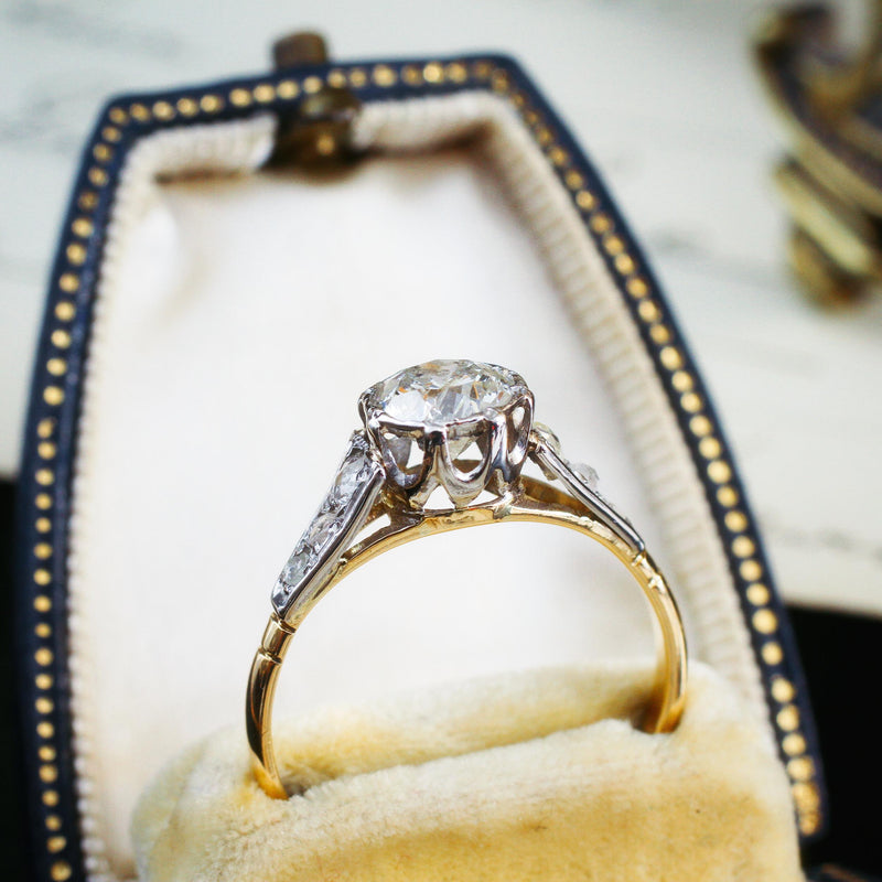 Glittersome Vintage One Carat Diamond Engagement Ring