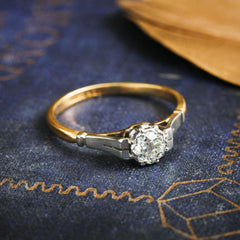 Restrainedly Lovely Vintage Diamond Solitaire Ring