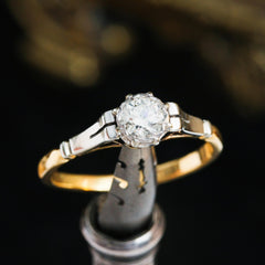 Mid Century Diamond Solitaire Ring