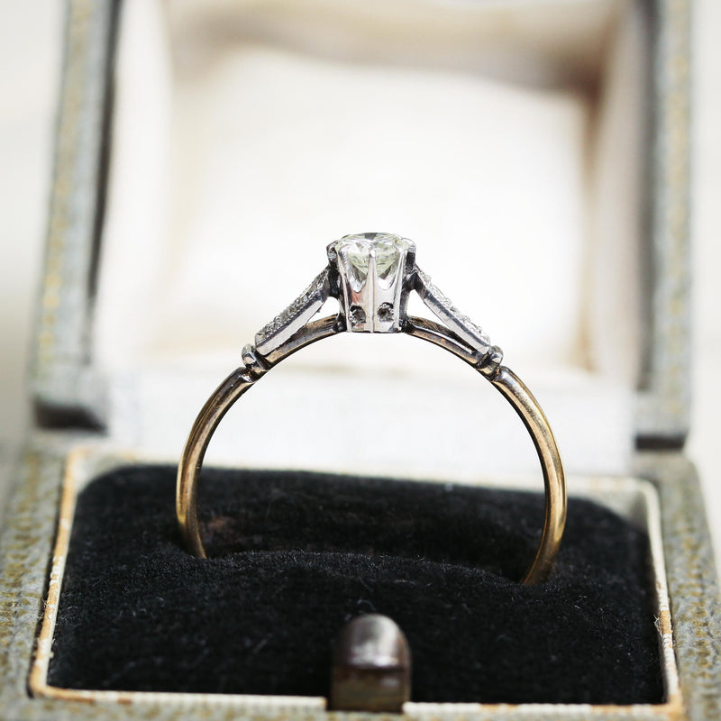 Classic Vintage Diamond Solitaire Engagement Ring