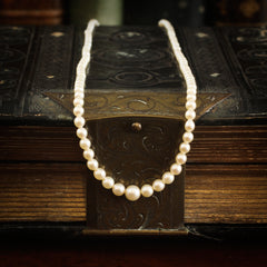 Vintage 1930's Fine Cultured Pearl Necklace