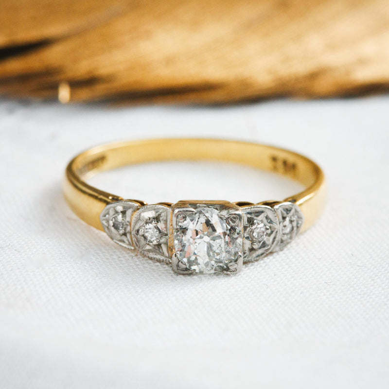 Sweetheart Vintage 1930's Diamond Engagement Ring