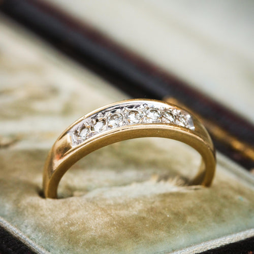 Contemporary Yellow Gold Brilliant-Cut Diamond Band