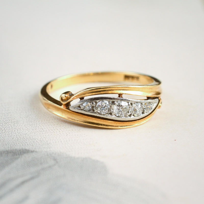 Fond Love! Antique Edwardian Diamond Ring