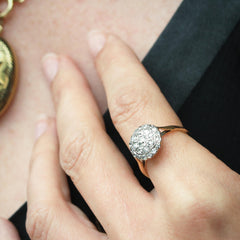 Mesmerically Lovely Vintage Diamond Cluster Ring