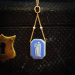 Antique Neoclassical Wedgewood Jasperware Pendant