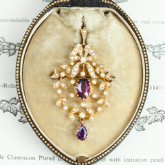 Finest 15ct Gold Edwardian Pendant/Brooch in Original Box