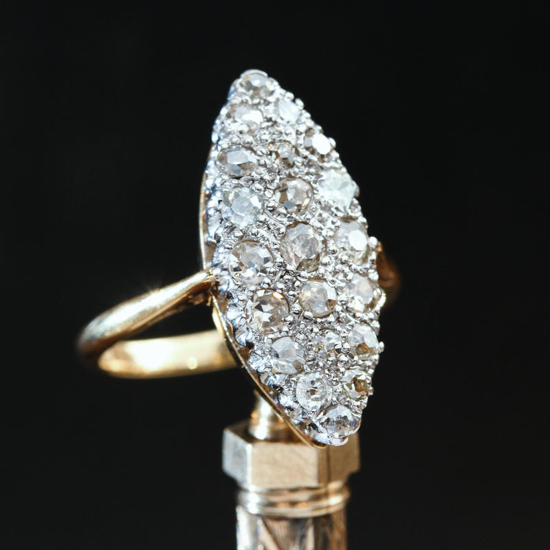 Antique Diamond Marquise Cluster Ring