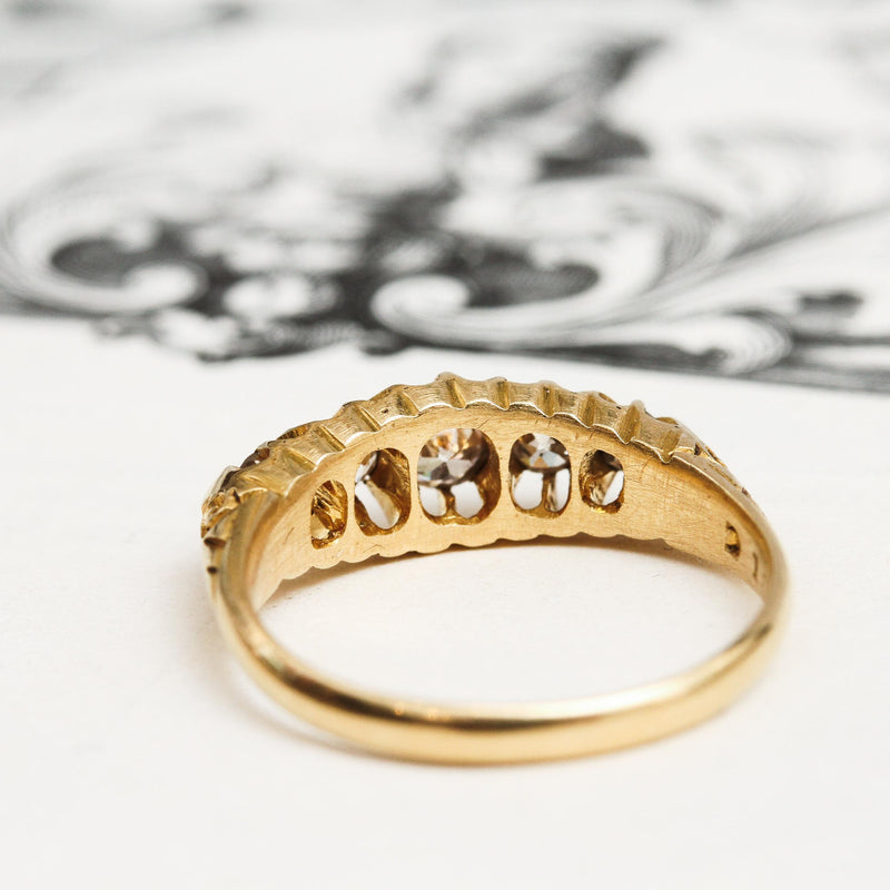 Date 1912 Edwardian Diamond & 18ct Gold Ring