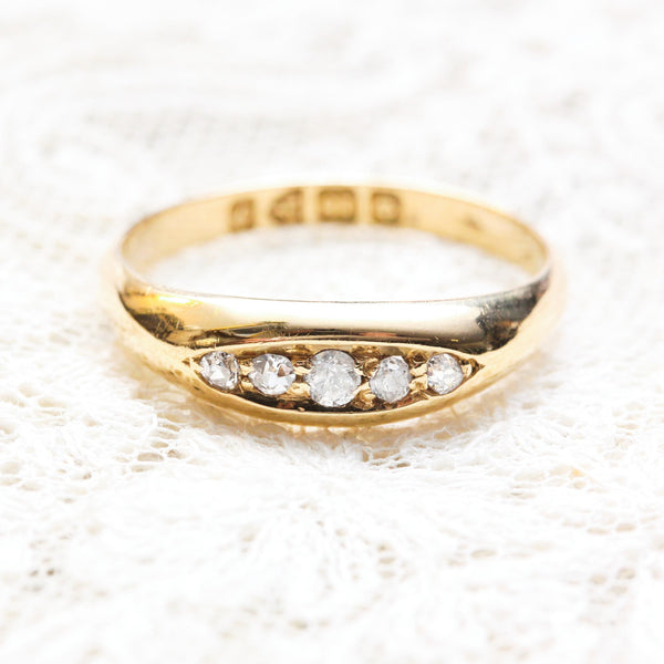 Dainty Date 1915 Five Stone Diamond Ring