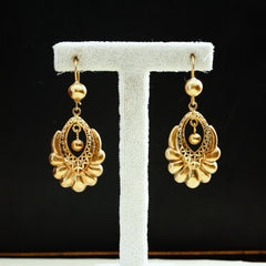 Vintage 18ct Gold Drop Earrings