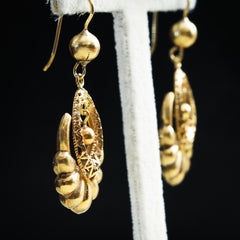 Fabuloso Vintage 18ct Gold Drop Earrings