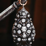 Oh Glittering Rhapsody!! Antique French Diamond Brooch/Pendant