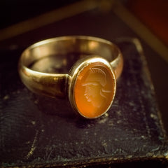 Heroic Antique Carnelian Intaglio Ring