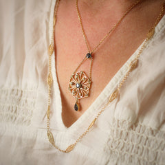 Stunning Antique Edwardian Sapphire and Seed Pearl Lavaliere Pendant