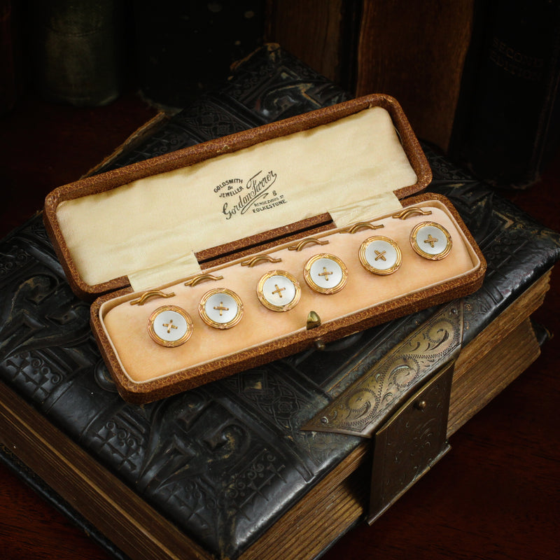 Suave Vintage Shirt Studs Set in Original Box