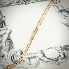 A Delightful 10ct Rose Gold Fancy Link Guard Chain