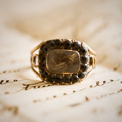 Precious Georgian Date 1831 Mourning Ring