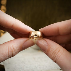 Gentle Vintage Date 1958 Gold Wedding Band Ring