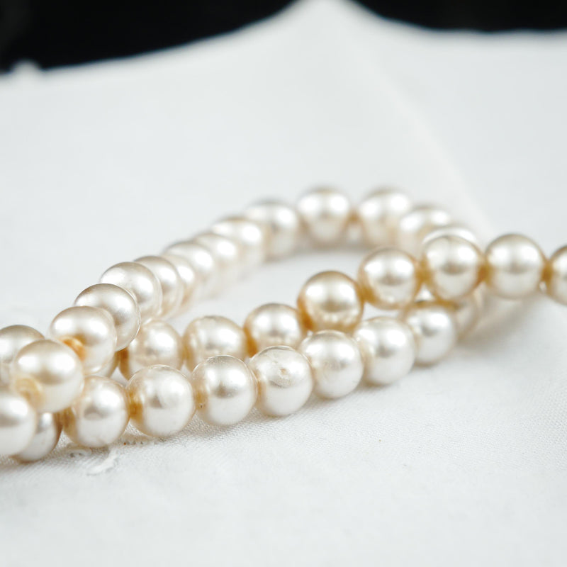 Rare Antique Hand Blown Glass Pearl Necklace