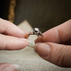 An Art Deco Original! Vintage Diamond Solitaire Engagement Ring