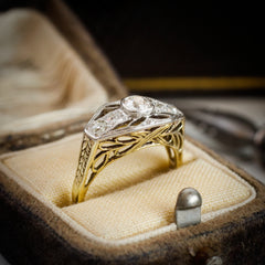 Intricately Detailed and Uniquely Beautiful Vintage Filigree Diamond Ring