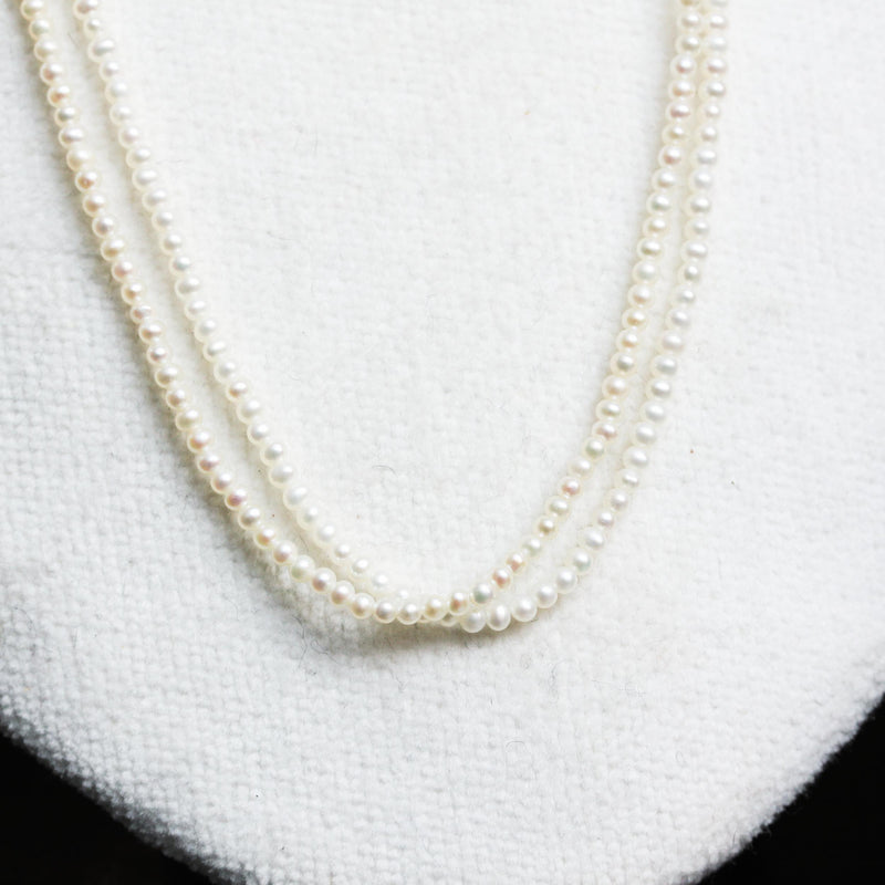 Double Row Seed Pearl Necklace