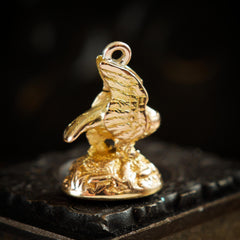 Antique High Carat Gold Perched Eagle Seal