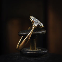 Quite Exquisitely Vintage Art Deco Diamond Cluster Ring