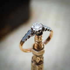 Pretty Vintage Diamond Solitaire Engagement Ring