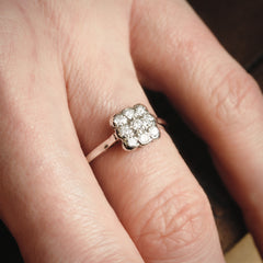A Sparkly Sensation! Vintage Diamond Cluster Ring