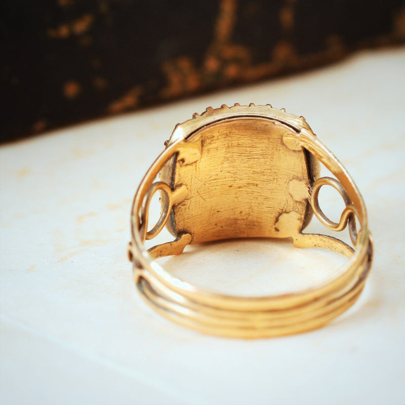 Once Precious Antique Georgian Mourning Ring